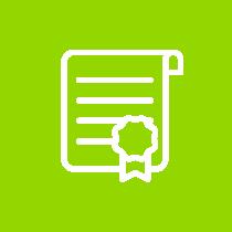 white award vector image inside of a green circle